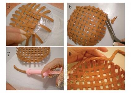 Corbeille en porcelaine froide minipouss - Comment utiliser la pate a bois ...